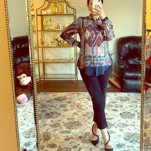 Zara western blouse